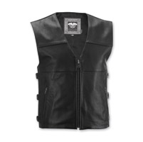 Highway 21 Men's 12 Gauge Black Leather Vest