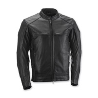 Highway 21 Men's Gunner Black Leather Jacket