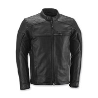 Highway 21 Men's Gasser Black Leather Jacket