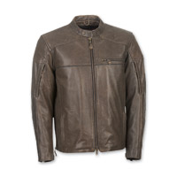 Highway 21 Men's Gasser Brown Leather Jacket