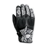 Highway 21 Women's Vixen Black/White Leather Gloves