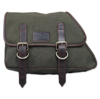 LaRosa Design Eliminator Army Green Canvas Saddlebag