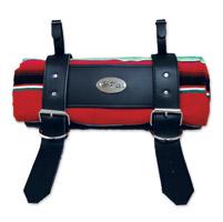 LaRosa Design Mexican Rainbow Roll-Up Blanket W/Special La Rosa Black Leathe Strap