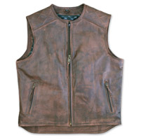 Crank & Stroker Supply Men's Bootlegger Brown Leather Vest