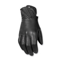 Highway 21 Women's Roulette Black Leather Gloves
