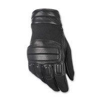 Highway 21 Men's Silencer Black Leather Gloves