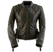 Black Brand Women's Mantra Black Leather Jacket