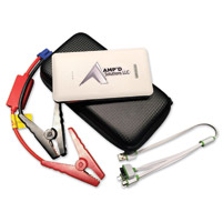 Amp'd Solutions White Ultra-Slim Jump Starter