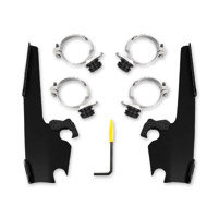 Memphis Shades Black Fats/Slim Fairing Trigger-lock Mounting Kit