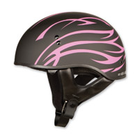 GMAX GM65 Naked Flat Grit Black/Pink Half Helmet