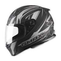GMAX FF49 Derk Flat Black/Silver Full Face Helmet