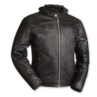 First Manufacturing Co. Men's Crossover Black Leather Jacket