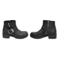 Milwaukee Motorcycle Clothing Co. Women's Capri Black Leather Boots