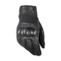 Highway 21 Men's Revolver Black Leather Gloves