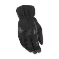 Highway 21 Men's Turbine Black Leather/Mesh Gloves