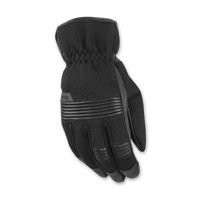 Highway 21 Men's Turbine Black Leather/Mesh Gloves