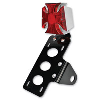 TC Bros. Choppers Maltese Cross Side Mount Tail Light/License Plate Bracket