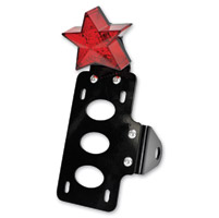 TC Bros. Choppers Nautical Star Side Mount Tail Light/License Plate Bracket