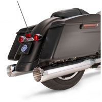 S&S Cycle MK45 4.5″ Mufflers Chrome, Chrome Thruster End Cap