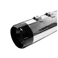 S&S Cycle MK45 4.5″ Mufflers Chrome, Black Thruster End Cap