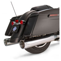 S&S Cycle MK45 4.5″ Mufflers Chrome, Chrome Tracer End Cap