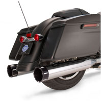 S&S Cycle MK45 4.5″ Mufflers Chrome, Black Tracer End Cap