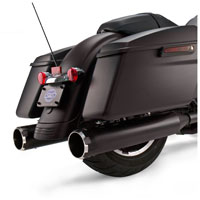 S&S Cycle MK45 4.5″ Mufflers Jet-Hot Black, Black Thruster End Cap