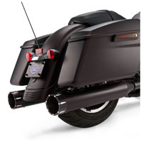 S&S Cycle MK45 4.5″ Mufflers Jet-Hot Black, Black Tracer End Cap