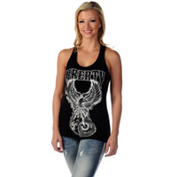 Liberty Wear Women's Bike For Liberty Black Racerback Tank Top