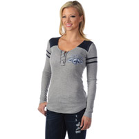 Liberty Wear Women's Vintage Love Grey/Navy Baseball Tee
