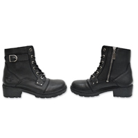 cac6493ffea71 Milwaukee Motorcycle Clothing Co. Women s Onyx Black Leather Boots