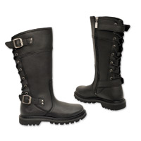 Milwaukee Motorcycle Clothing Co. Women's Dreamgirl Black Leather Boots