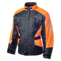 Olympia Moto Sports Horizon Neon Orange/Black Rain Jacket