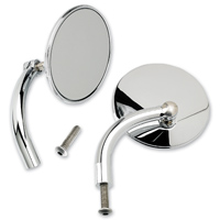 Biltwell Inc. Chrome Round Utility Mirror Set