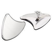 Performance Machine Chrome Contour Touring Mirrors
