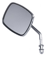 J&P Cycles® One-Piece Chrome Left Side Mirror with 4