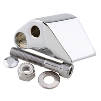 J&P Cycles® Chrome Right Mirror Adapter for Harley Models Handlebar Controls