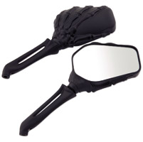 J&P Cycles® Black Hand Bone Mirror