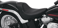 Drag Specialties Solo Seat with Faux Ostrich Cover for Softail