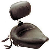 Mustang Wide Studded Solo Seat with Backrest