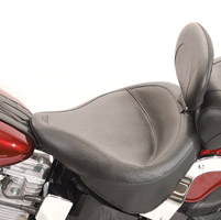 Mustang Wide Vintage Solo Seat with Backrest
