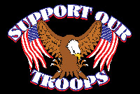 Rumbling Pride Support Our Troops 6″ x 9″ Flag