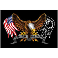 Rumbling Pride Some Gave All 6″ x 9″ Flag