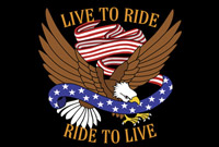 Rumbling Pride Live To Ride - Ride To Live 6″ x 9″ Flag
