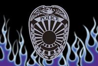 Rumbling Pride Policeman Flames 6″ x 9″ Flag