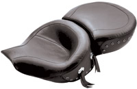 Mustang Wide Touring One-Piece Studded Smooth Seat for FLHR Models