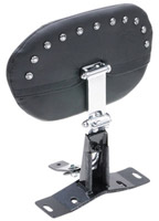 Mustang Smooth Driver Backrest Kit with Chrome Studs