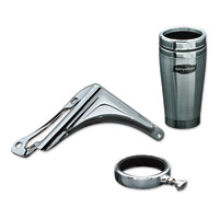 Kuryakyn Right Side Passenger Drink Holder with Stainless Mug