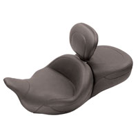 Mustang One-Piece Super Touring Plain Seat with Driver Backrest