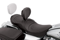 Drag Specialties Low-Profile Mild Stitching Touring Seat with EZ Glide I Backrest